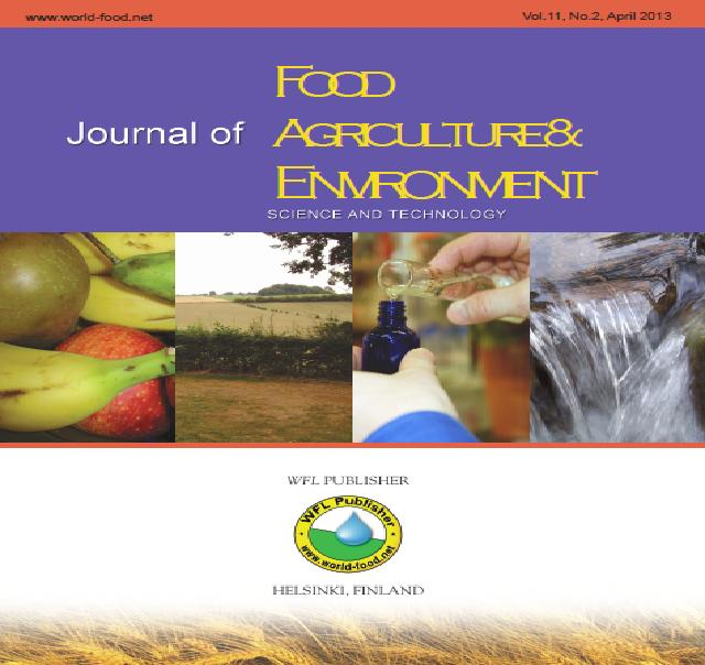 The Journal of Food, Agriculture and Environment (JFAE)